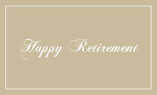 退職 表 メッセージカード